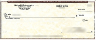 Check from the NRA for 23rd Production