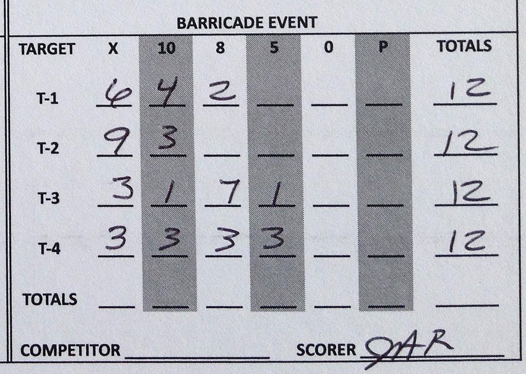 Crawfish Cup 2014 Barricade Score Sheet