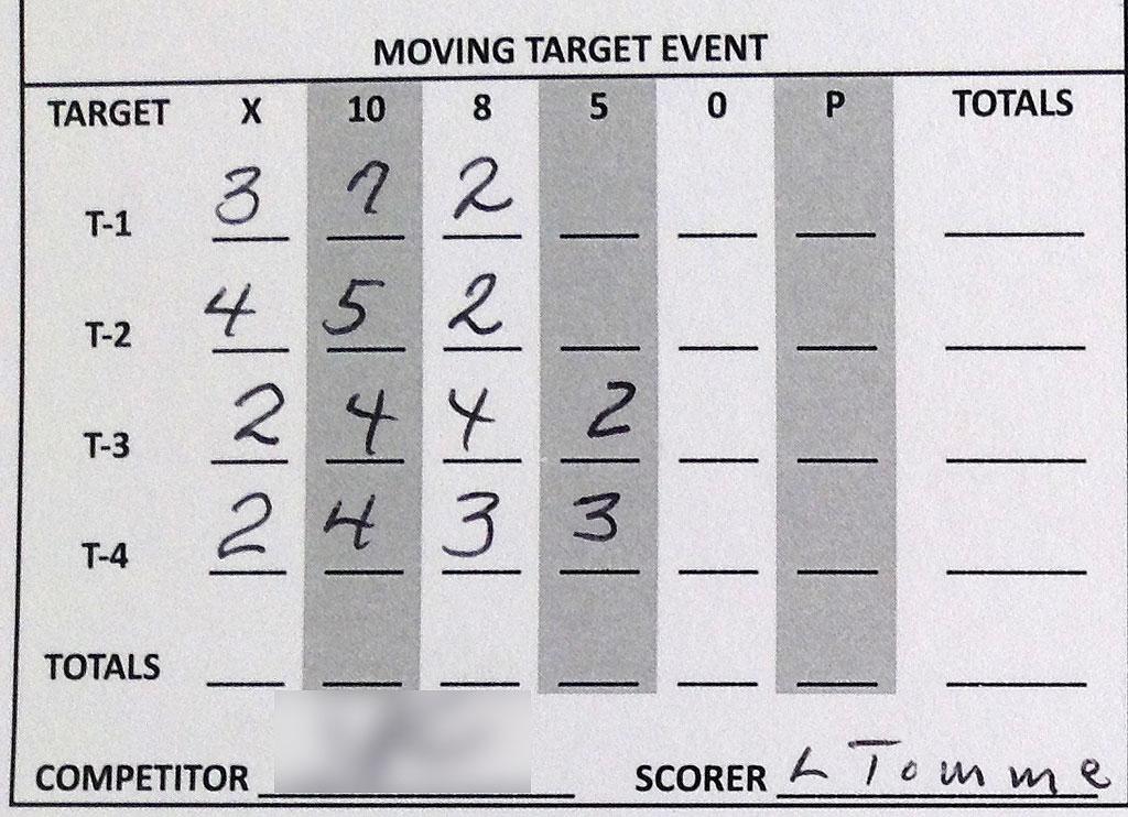 Crawfish Cup 2014 Moving Target Score Sheet