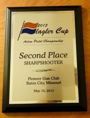Flagler Cup 2013 2nd Sharpshooter Plaque